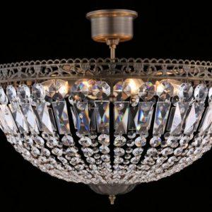 Classic kristallplafond (Antikmässing)