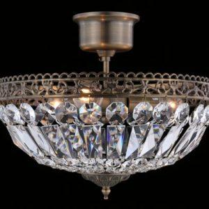 Classic liten kristall (Antikmässing)
