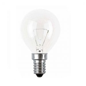 E14 klotlampa klar 25W