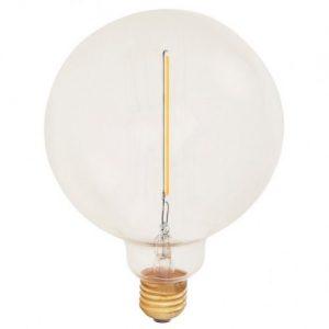 E27 Atelier klar globlampa 125mm 1W