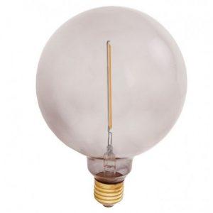 E27 Atelier smoke globlampa 125mm 1W
