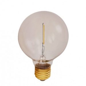 E27 Atelier smoke globlampa 80mm 1W