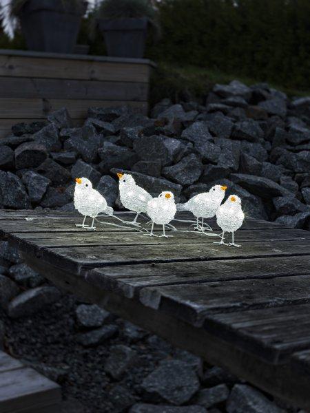 Fåglar 5st LED (Vit)