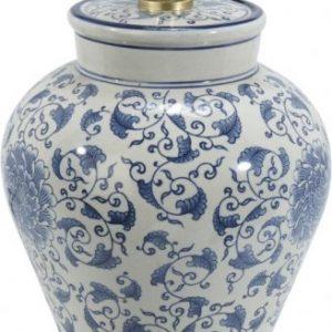 Fang Hong vit/blå lampfot 38cm (Blå)