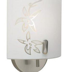 Orchid vägglampa (Borstat stål)