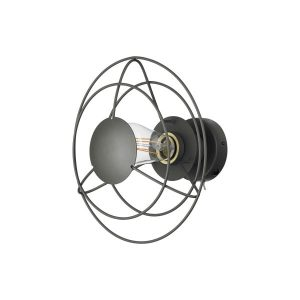 Radio vägglampa 28cm (Grå)