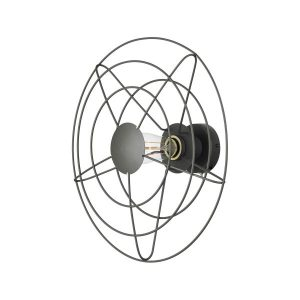 Radio vägglampa 44cm (Grå)