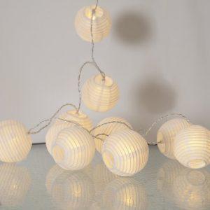 Risboll ljusslinga LED 10ljus (Vit)