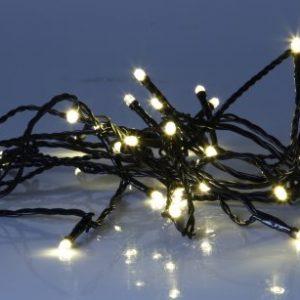Serie LED ljusslinga 40 ljus svart varmvit (Svart)