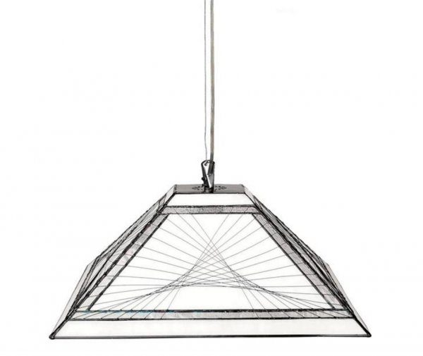 String taklampa 40cm (Svart)