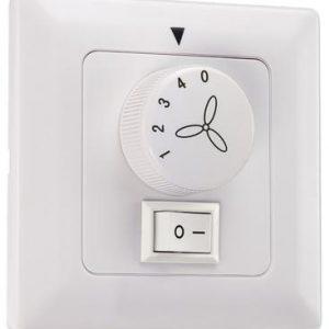 Väggkontroll för takfläkt med ljus (Vit)
