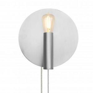 Vägglampa Art Deco (Borstat stål)