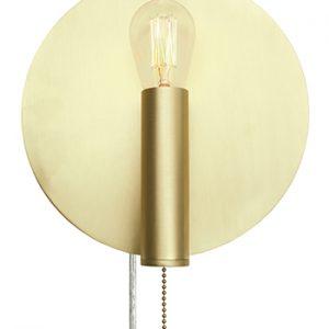 Vägglampa Art Deco (Mässing/guld)